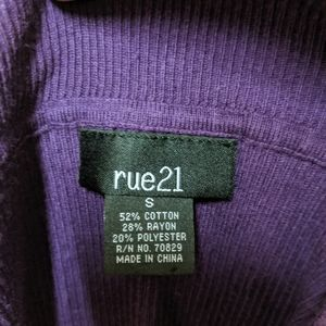 Rue21 Tops - 💎 Purple long shirt from rue 21 size small
